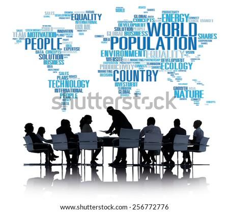 World Population Global People Community International Concept - stock photo