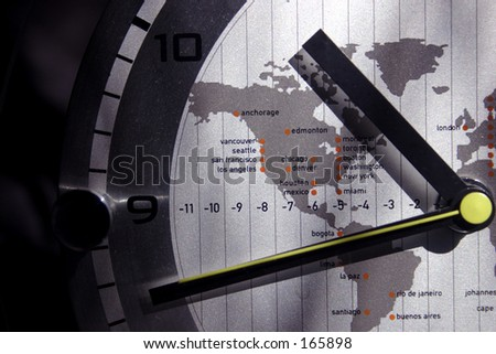 World Time zone watch (exclusive at shutterstock) - stock photo