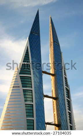 world trade center in manama (bahrain) - stock photo