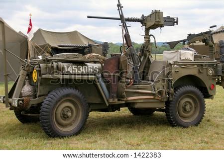 world war ii jeep - stock photo