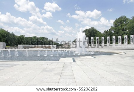 World War II Memorial and Lincoln memorial - stock photo