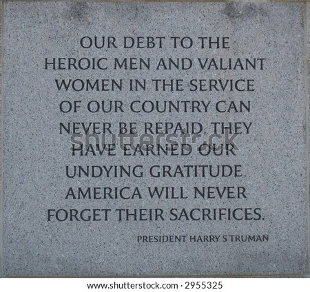 World War II Monument - stock photo