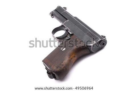 World War II officer pistol - stock photo