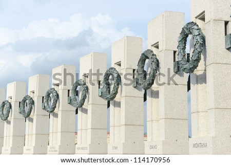 World War 2 Memorial in Washington DC - stock photo
