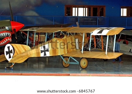 World War Two German Biplane - stock photo