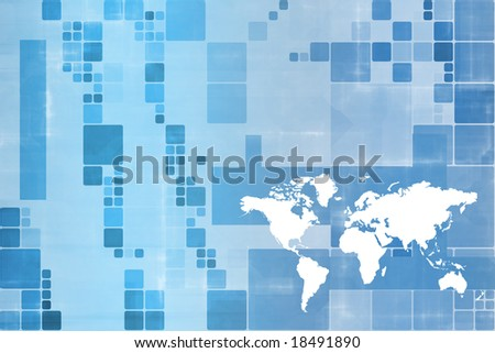 World Wide Business Communications Performance Abstract Background - stock photo