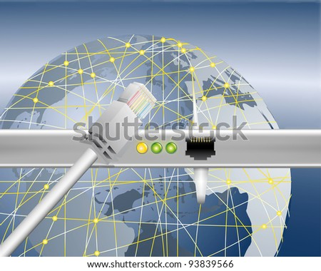 world wide data transfer - stock photo