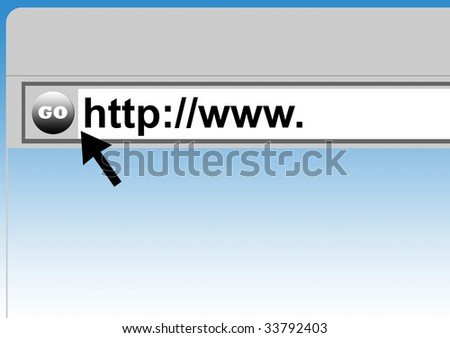 World Wide Web browser background with cursor arrow. - stock photo