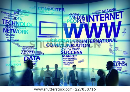 World Wide Web Global Connection Data Internet Concept - stock photo