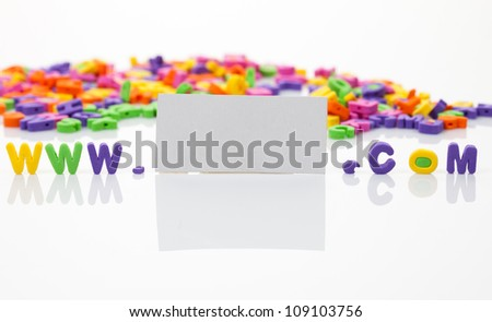 World wide web with plastic letters isolated - stock photo