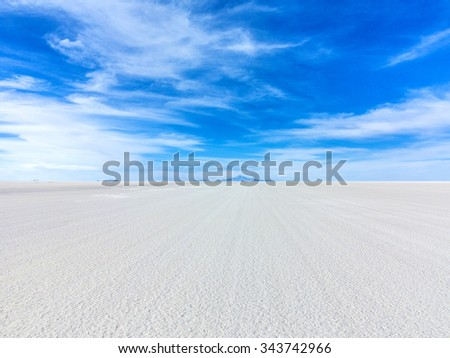 Worlds biggest salt plain Salar de Uyuni, Bolivia - stock photo