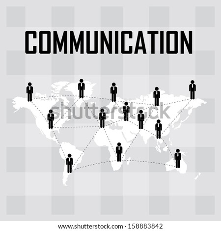 Worldwide communication and social media concept . People communicating around the globe with a lot of connections - jpg format - stock photo