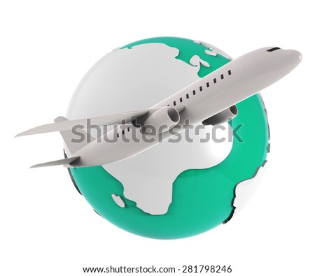 Worldwide Flights Meaning Earth Globally And Fly - stock photo