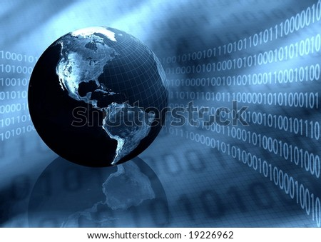 Worldwide Information Background - stock photo