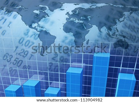 Worldwide Market - stock photo