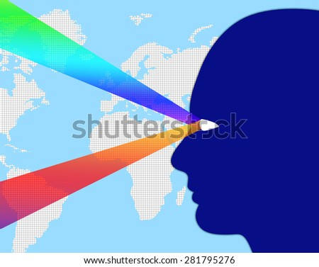 Worldwide Observation Meaning Surveillance Global And Globalize - stock photo