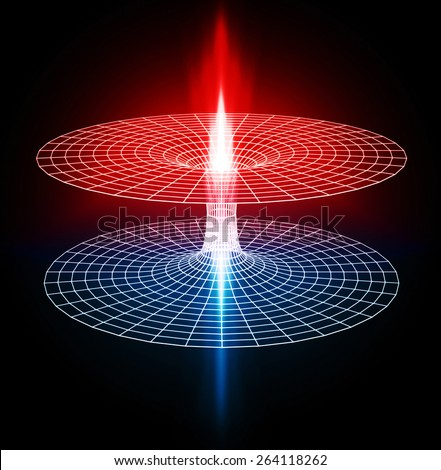 wormhole, black hole - stock photo