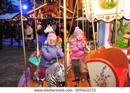 Worms, Germany - December 1, 2010 - Christmas market