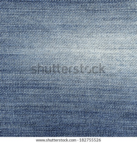 worn blue jeans texture - stock photo