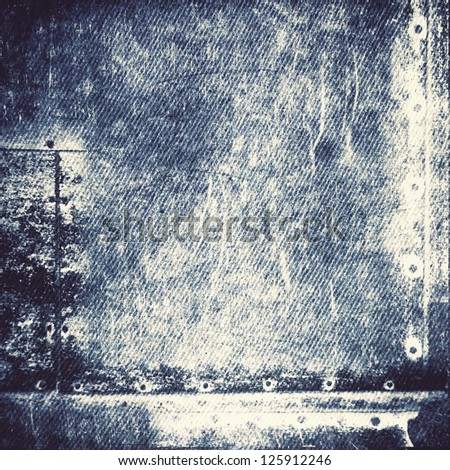 worn blue jeans  ; vintage background - stock photo