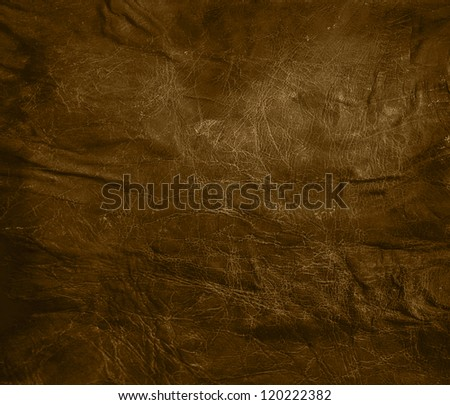 worn brown leather background - stock photo