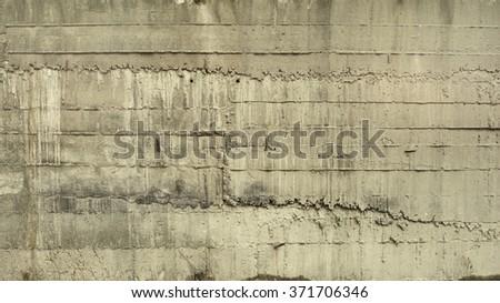 Worn concrete wall texture background. Vintage effect.  - stock photo