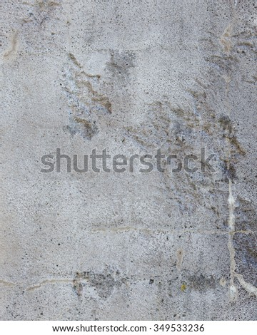 Worn grey cement stone wall background texture - stock photo