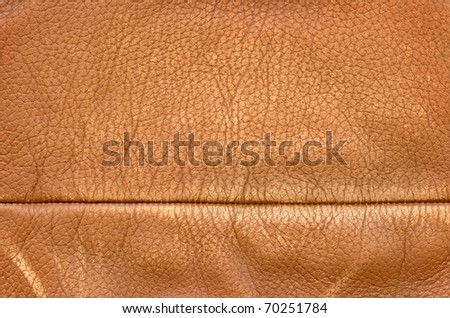 Worn leather background with stitch - stock photo