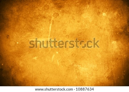 Worn out concrete floor with a paper-like grunge texture and vignette corners. - stock photo