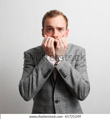 Worried businessman - stock photo