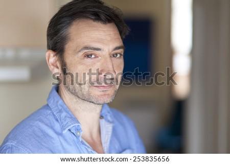 Worried Italian Man At The Hospital  - stock photo