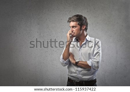 Worried man - stock photo