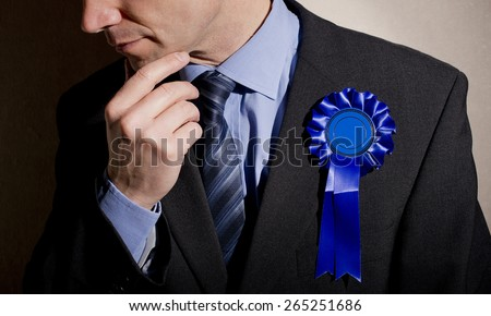 Worried/Pensive Election Candidate - stock photo