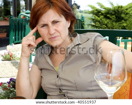 worried woman - stock photo