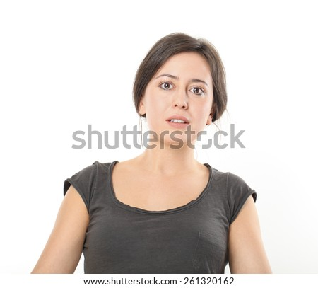 Worried Young Woman Portrait.