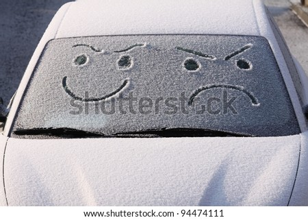 worries for winter travel - stock photo