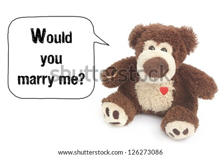 Would you marry me? - stock photo