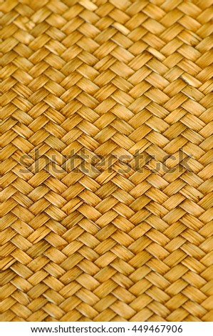 Woven bamboo flooring is a beautiful pattern. - stock photo