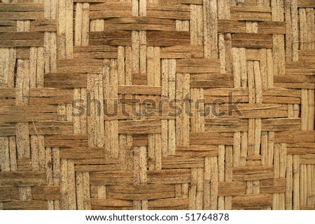 woven bamboo slats in a diamond pattern for background use