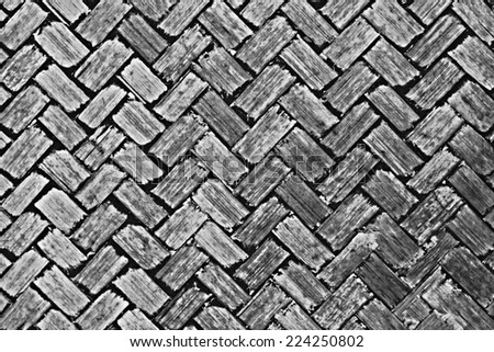 Woven bamboo texture for pattern and background. - stock photo