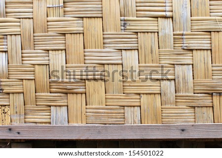 woven bamboo wall background