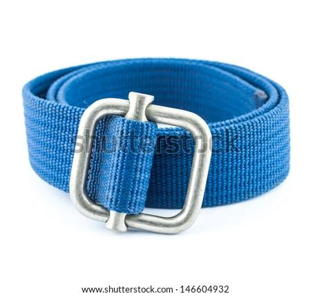 woven cotton belt isolated on white background - stock photo