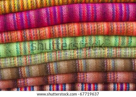 woven fabrics, inca tradition - stock photo