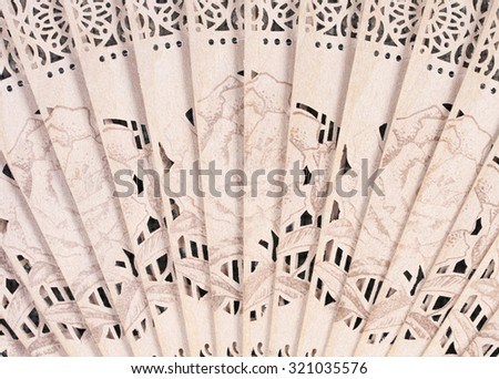 Woven fans Leaves on white background. - stock photo