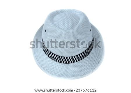 woven fashion hat isolate on white background - stock photo