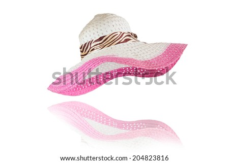 Woven hat with wings for women. - stock photo