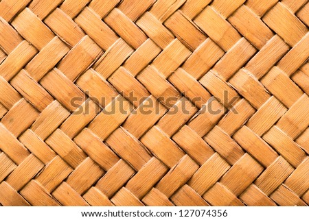 Woven or weave wood pattern texture, Thai style, basket or bag small size - stock photo
