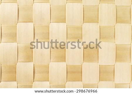 Woven Rattan Mat Pattern Background - stock photo