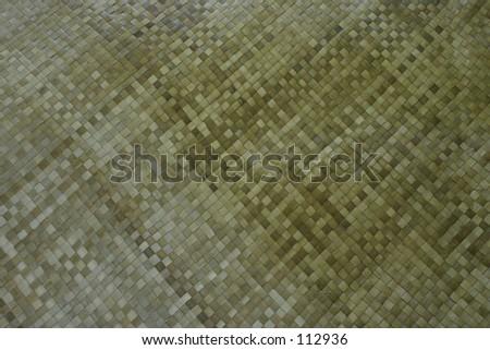 woven reed mat pattern - stock photo