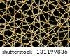 woven Wicker Net black background  - stock photo